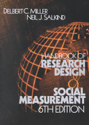 Handbook of Research Design and Social Measurement