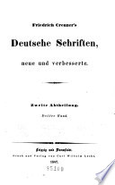 Friedrich Creuzer's deutsche schriften