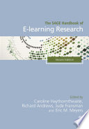 The SAGE Handbook of E learning Research  2e