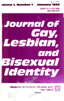 Journal of Gay  Lesbian  and Bisexual Identity