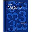 Saxon Math 3
