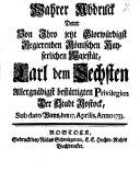 Abdruck derer von Ihro R. Majestät Karl VI. bestätigten Privilegien der Stadt Rostock ... anno 1733