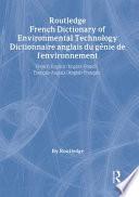 Dictionnaire Anglais Du G  nie de L environnement