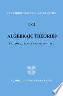 Algebraic Theories