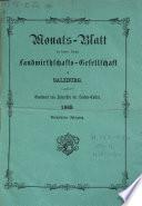 Wochen-Blatt des k.k. landwirthschaftlichen Vereines in Salzburg