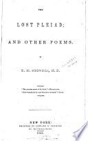 The lost pleiad Book PDF