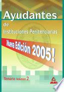 Ayudantes de Instituciones Penitenciarias  Temario  Volumen Ii Ebook