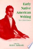 Early Native American Writing