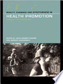 Quality  Evidence  and Effectiveness in Health Promotion
