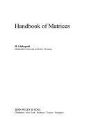 Handbook of Matrices