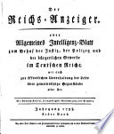 Kaiserlich privilegirter Reichs-Anzeiger