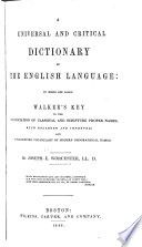 A Universal and Critical Dictionary of the English Language