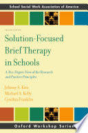 Solution Focused Brief Therapy in Schools