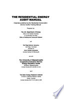 The Residential Energy Audit Manual