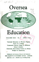 Oversea Education   A Journal of Educational Experiment and Research in Tropical and Subtropical Areas