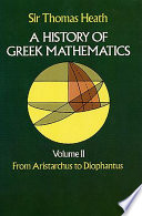 A History of Greek Mathematics  From Aristarchus to Diophantus