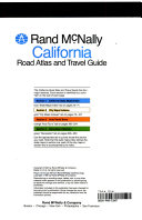 California Road Atlas and Travel Guide