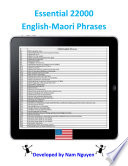 Essential 22000 Phrases In English Maori