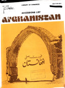 Accessions List, Afghanistan