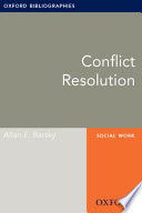 Conflict Resolution  Oxford Bibliographies Online Research Guide