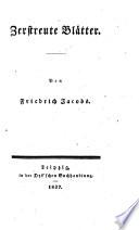Vermischte Schriften von Friedrich Jacobs