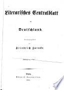 Literarisches Centralblatt für Deutschland