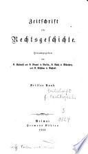 Zeitschrift für Rechtsgeschichte
