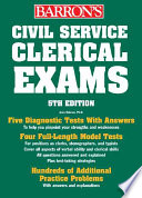 Barron s Civil Service Clerical Exams