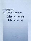 Student S Solutions Manual To Accompany Calculus For The Life Sciences