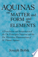 download ebook aquinas on matter and form and the elements pdf epub