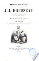 Oeuvres completes de J  J  Rousseau
