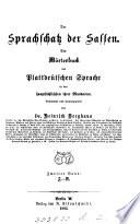 Der Sprachschatz der Sassen, ein Wörterbuch der plattdeütschen Sprache
