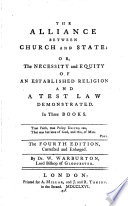 The Alliance Between Church and State