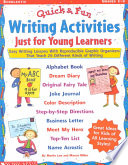 Quick   Fun Writing Activities Just for Young Learners