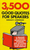 3 500 Good Quotes for Speakers