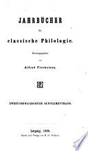 Jahrbücher für classische Philologie
