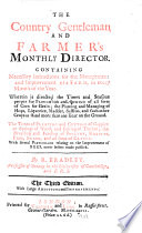 The Country Gentleman and Farmer s Monthly Director