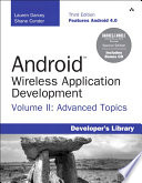 Android Wireless Application Development Volume II Barnes   Noble Special Edition