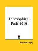 Theosophical Path 1919 Book PDF