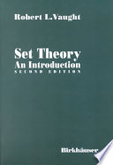 Set Theory  An Introduction