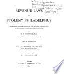 Revenue Laws of Ptolemy Philadelphus