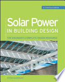 Solar Power in Building Design  GreenSource