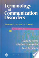 Terminology Of Communication Disorders book
