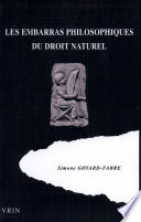 Les Embarras Philosophiques Du Droit Naturel