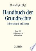 Merten/Papier, HGR VIII: Landesgrundrechte in Deutschland