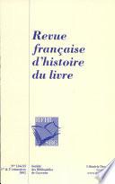 Revue fran  aise d histoire du livre