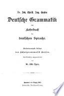 Joh. Christ. Aug. Heyses Deutsche Grammatik oder Lehrbuch der deutschen Sprache