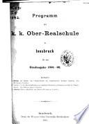 Jahresbericht der K.K. Oberrealschule zu Innsbruck