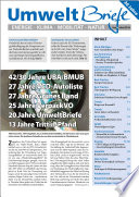 Zeitschrift UmweltBriefe Heft September 2016