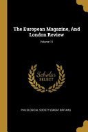 The European Magazine, And London Review; Culturally Important And Is Part Of The